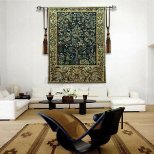 William Morris Tree of Life Fine Art Tapestry Wall Hanging Home Deco