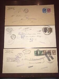 Lot Of 3 Estevan Sask. registered cover , Huge Large R cancel Admiral 117&118