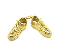 Solid 9ct Yellow Gold Vintage Hallmarked Football / Rugby Boots Charm / Pendant