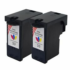 2 PK 33 18C0033 Tri-Color Ink Cartridges for Lexmark Z816 X5210 P315 X3350 P6210