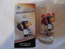 Paule Maskottchen DFB Sonder Glas EM 2016 Original signiert LOOK NEU TOP