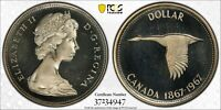 1967 CANADA SILVER DOLLAR PCGS PR67CAM UNC BU CHOICE GEM SUBTLE TONED COLOR (DR)