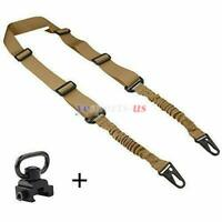 Tactical 2 Point Rifle Sling Bungee Rifle with QD Sling Swivel for Shooting