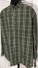Rugged Earth Outfitters Men's 2XL Long Sleeve Button Front Shirt Green Plaid NWT