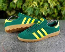 new concept 12a64 b6883 BNWB   Genuine Adidas Originals ® Bermuda Green Suede Retro Trainers UK Size  11