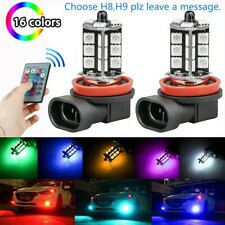 16Color RGB H11/H8/H9 LED,Bulbs w/ Wireless IR Remote For Fog Light Driving Lamp