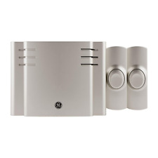 Wireless Doorbell Kit, 8 Melodies 1 Receiver 2 Push Buttons, Battery-Operated