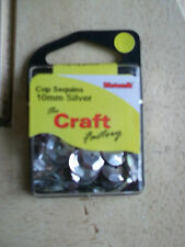 The Craft Factory Cf01/410 | Cup Sequins 10mm Approx 5g Silver