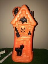 "New Spooky Halloween 17"" Lighted Blow Mold Haunted House Decoration"