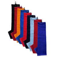 NEW Team Golf Premium Golf Towel For Golf Bag - Choose Favorite Color