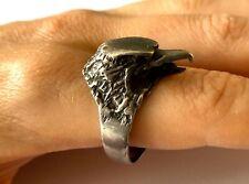 1 DELUXE HAWK BIRD SILVER BIKER RING BR201 mens jewelry RINGS NEW EAGLE NOVELTY