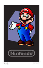 Club Nintendo Gaint Double Sided Mario AR Card Poster for 3DS