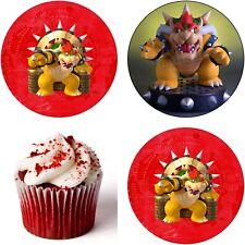 Super Mario Bowser Eßbar Tortenbild Party Deko Muffinaufleger Cupcake Switch neu