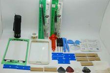 Samsung Galaxy S7 Oro Cristal Frontal, Kit de Reparación de Pantalla, Loca Glue, UV Antorcha, Alambre
