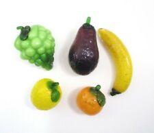 Vintage Large 5 Piece  Murano Style Hand Blown Glass Fruits & Vegetables - #F