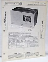 Vintage Photofact Folder Trav-Ler Model 5022 Battery Line Op Radio Parts Manual