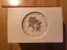 Vintage Hard Plastic White Jewelry BOX
