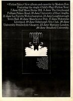 6/6/81PGN32 ALBUM &TOUR ADVERT 15X11 MODERN EON : FICTION TALES FRAMED