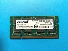 New listing Crucial 2Gb Ddr2 200pin Sodimm 256x64 Laptop Memory Ram Ct25664Ac667.K16F