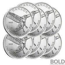 2015 Silver 1 oz Canada Birds of Prey Red-Tailed Hawk (10 Coins)