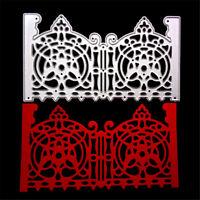 Gate Frame Decor Metal Cutting Dies Stencils For Scrapbooking Paper Cards CrFLA
