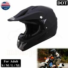 DOT Adult Helmet Dirt Bike ATV Motocross Motorcycle Full Face MX BMX Black Race