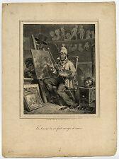 Antique Master Print-FIGURE-GENRE-PAINTER-STUDIO-Raffet-ca. 1830
