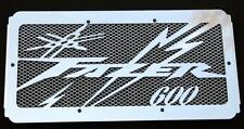 "cache / Grille de radiateur inox poli 600 FZS Fazer 98/03 ""Eclair"" +grillage alu"