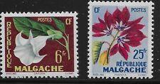 Malagasy Republic (Madagascar) Scott #301-02, Singles 1959 Complete Set FVF MH
