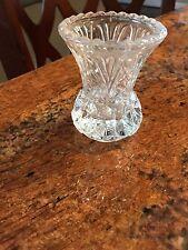 """Lead Crystal Vase 3"""" Excellent No Chips or Cracks"""
