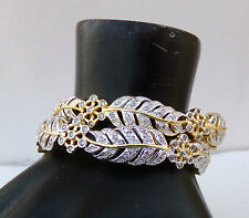 South Indian Fashion Diamante Bangles Set Ethnic Bollywood Golden Bracelet 2.6*