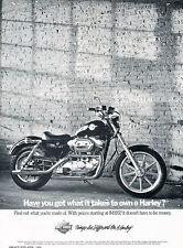 1989 Harley Davidson Sportster Motorcycle - Vintage Advertisement Print Ad J500