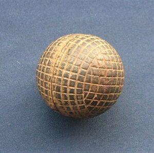 Vintage Gutta Percha (Gutty) Line Cut Golf Ball C1890 Era