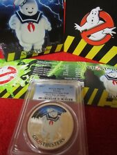 2017 $1 Tuvalu Ghostbusters Stay Puft .9999 Silver Coin PCGS MS PR PF 70 hot