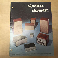 Vtg Dynaco Dynakit Catalog 80 120 Amp 400 Mark III III-70 III-500 Speakers 1972