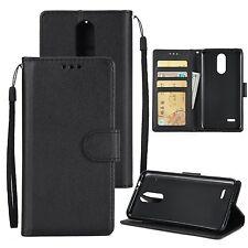 Magnetic Flip Leather Wallet Stand Phone Case Cover Cards For LG K4 K8 K10 2017