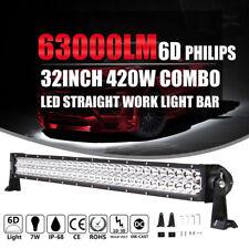 32 Inch 180W LED Light Bar Spot Flood Work Lamp 4WD Boat UTE Driving ATV SUV
