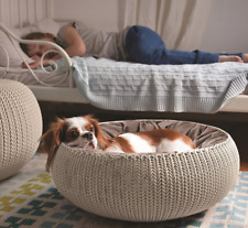 curver® Cozy Pet Bed Dog Cat Basket with Cushion 🐶 Small Dogs Medium Cats Brown