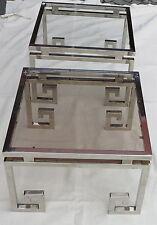 Paire de bouts de canapés design metal chromé