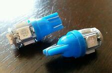 2X T10 501 W5W 5 Smd 5050 LED LUCI LATERALI INTERNO Lampadina targa luce UK Blu