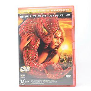 Spiderman 2 Collectors Edition 2 Disc Tobey Maguire Kirsten Dunst 2004 DVD R4 GC