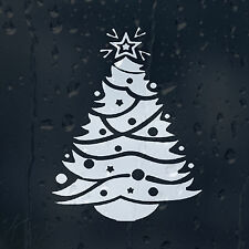 White Merry Christmas Tree Car Decal Vinyl Sticker For Bumper Window Panel Wall