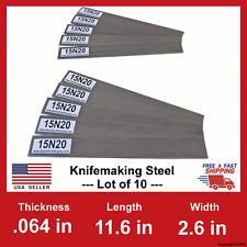 15N20 Carbon Steel Bars - 1/16 in x 11.6