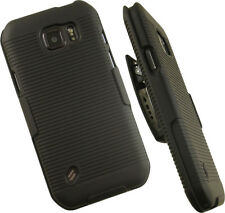 BLACK HARD CASE COVER BELT CLIP HOLSTER STAND FOR SAMSUNG GALAXY S6 ACTIVE G890