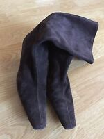 NWOB Womens Barneys New York 6 (36.5) Dark Brown Ankle Boots Suede Leather Shoes