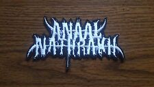ANAAL NATHRAKH,IRON ON WHITE EMBROIDERED PATCH