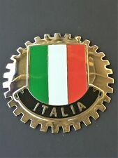 ITALIAN FLAG ITALY CAR GRILLE BADGE - ITALY AUTOMOBILE BADGE