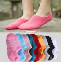 5 Pairs Women Invisible Nonslip Loafer No Show Multicolor Low Cut Cotton Socks