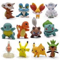 12PCS/BAG POKEMON GO action figure toy set Pikachu Squirtle Charmander Bulbasaur