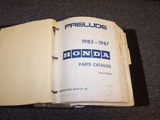 1983 1984 1985 1986 1987 Honda Prelude Coupe Parts Catalog Manual S Si 1.8L 2.0L